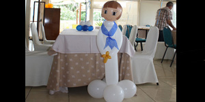 Nen de comunió amb globus, gran Foto 1