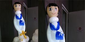 Nen de comunió amb globus, petit Foto 1